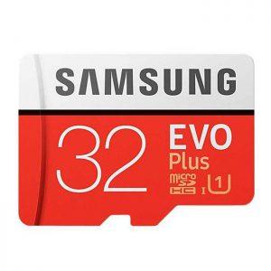 رم سامسونگ 32 گیگابایت microSDXC مدل Evo Plus همراه با آداپتور SD