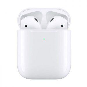 هدفون بی سیم اپل مدل AirPods همراه با محفظه شارژ وایرلس
