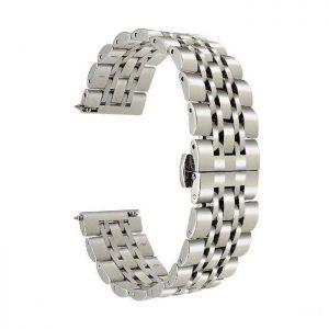 بند فلزی مخصوص ساعت هوشمند سامسونگ Galaxy Watch Active2 نقره ای
