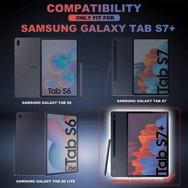 کیف کلاسوری تبلت سامسونگ Galaxy Tab S7 Plus
