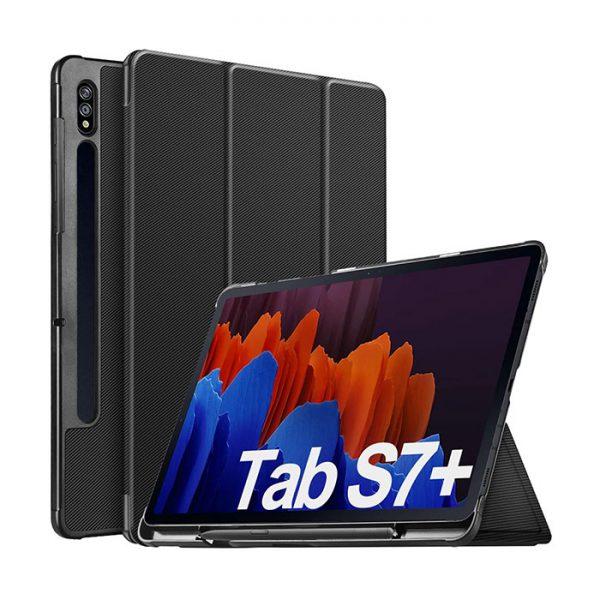 کیف کلاسوری تبلت سامسونگ Galaxy Tab S7 Plus ساخت شرکت IVSO