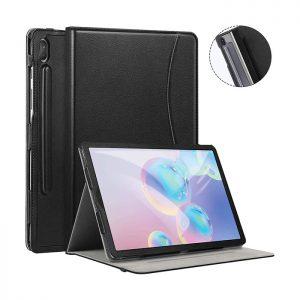 کیف چرمی هوشمند تبلت سامسونگ Galaxy Tab S6 مشکی