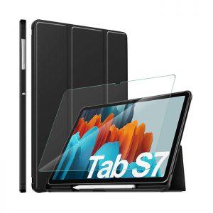 کیف و محافظ نمایشگر تبلت سامسونگ Galaxy Tab S7
