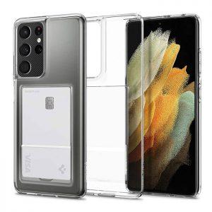 قاب اسپیگن گوشی سامسونگ Galaxy S21 Ultra مدل Crystal Slot