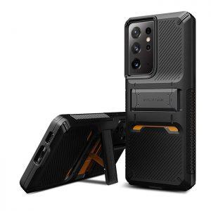 قاب VRS Design گوشی سامسونگ Galaxy S21 Ultra مدل Damda QuickStand Pro