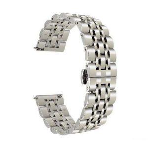 بند فلزی مخصوص ساعت هوشمند سامسونگ Galaxy Watch3 SM-R840 45mm نقره ای