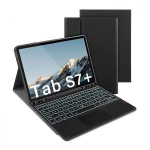 کیف کیبورد دار تبلت سامسونگ مدل Galaxy Tab S7 Plus ساخت شرکت IVSO